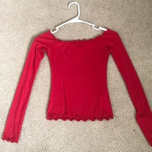 brandy melville style red top